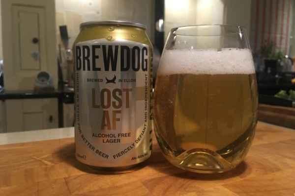 Brewdog Lost AF lager and can
