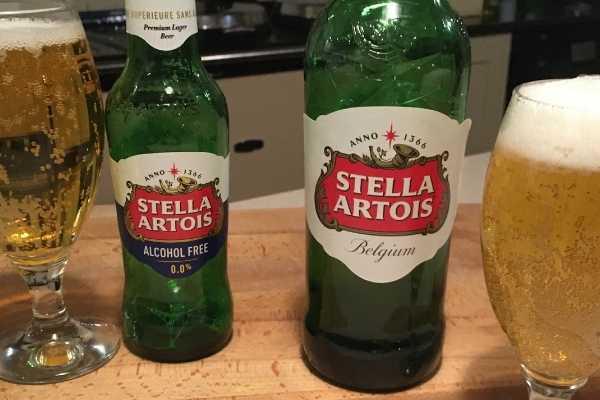 stella artois alcohol free compared to stella