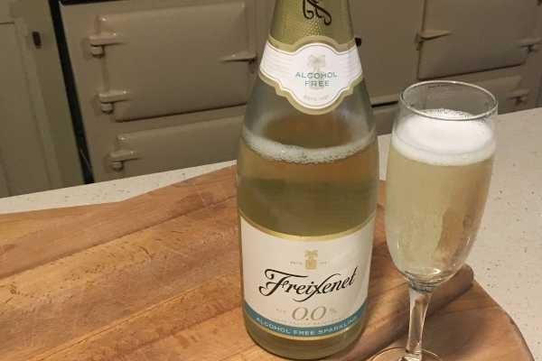 Freixenet Alcohol Free Wine Bottle and Glass